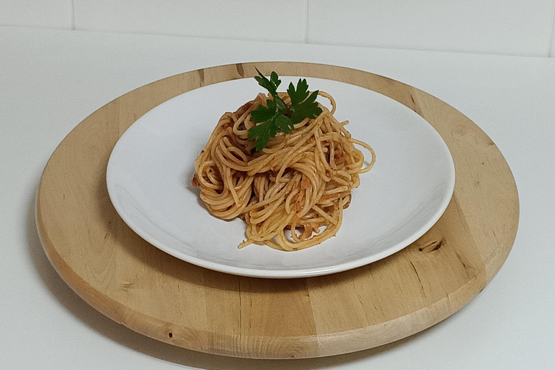 Espaguetis a la boloñesa veganos